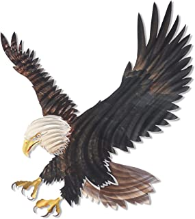 Next Innovations 3D Metal Wall Art - Bald Eagle Wall Decor - Country Wall Art - Handmade in The USA for Use Indoors or Outdoors