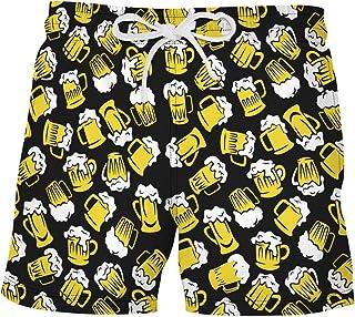 ranrann Mens Quick Dry Printed Swim Trunks Sports Swimwear Fashion Drawstring Boardshorts