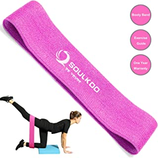 soulkoo Hip Circle Band, Booty Exercise Strength Bands for Women Girls, Non-Slip Soft and Comfortable