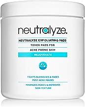 Neutralyze Exfoliating Pads (100 Pads) - Maximum Strength Acne Treatment Pads With 2% Salicylic Acid + 1% Mandelic Acid + Nitrogen Boost Skincare Technology