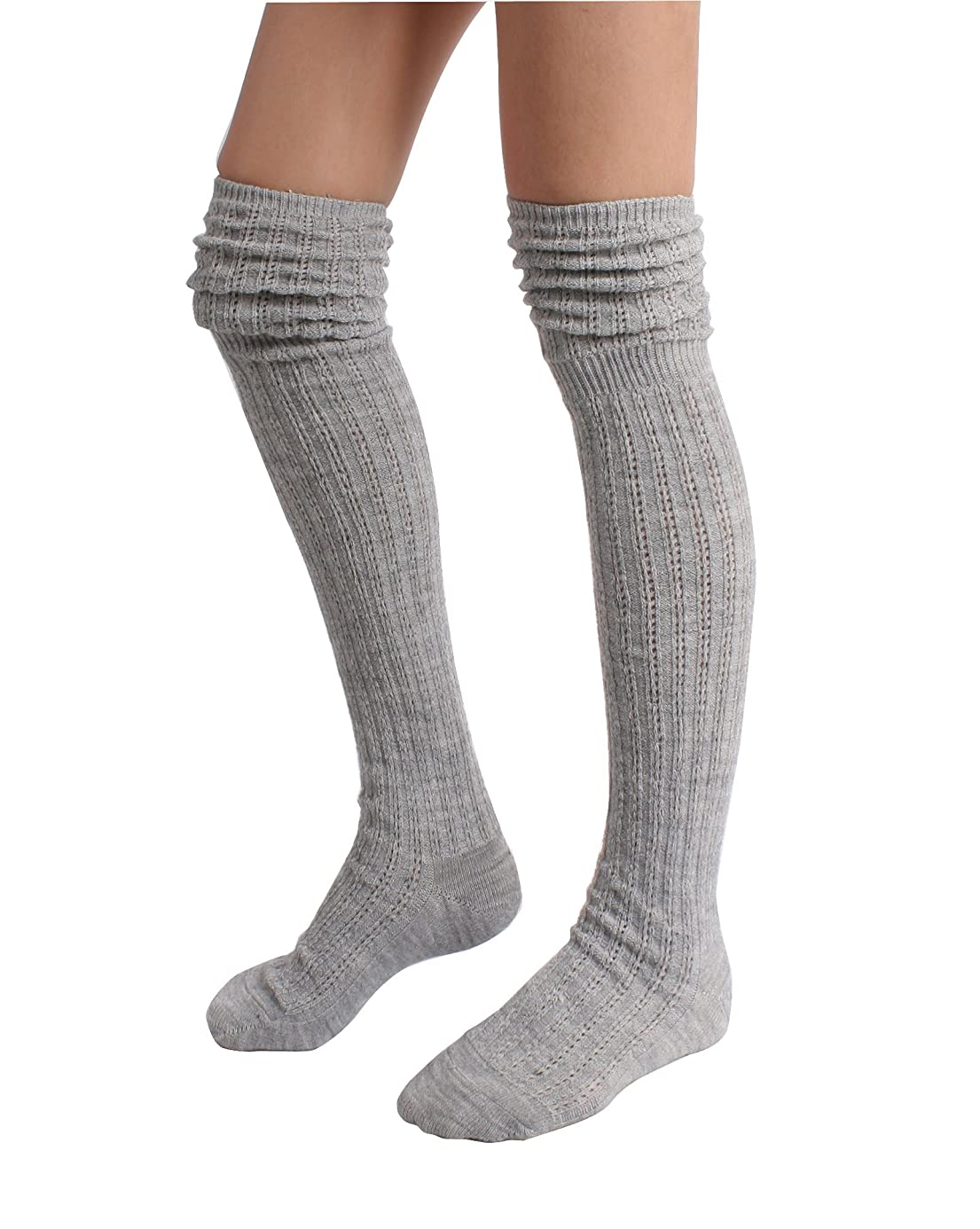 STYLEGAGA Winter Slouch Top Over The Knee High Knit Boot Socks hrc6812091