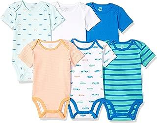 Amazon Essentials Boys' 6-Pack Short-Sleeve Bodysuit