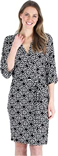 bSoft Women's Sleepwear Bamboo Jersey Lightweight Short Wrap Robe