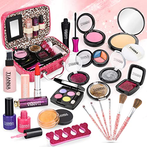 Dreamon Maquillage Jouet Petite Fille, 24PCS Malette Maquillage Jouet Lavable Makeup Beauté Cadeau pour Enfant 5 Ans