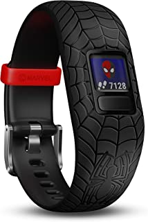 Garmin vivofit Jr. 2 - Marvel Spider-Man Fitness Activity Tracker for Kids - Adjustable Band - Black, Age 4+