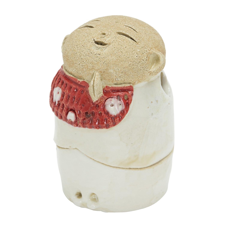 の頭の上乱気流乱気流お地蔵様 香炉シリーズ 前掛 お地蔵様 香炉 2.2寸(わらべ) [H6.5cm] HANDMADE プレゼント ギフト 和食器 かわいい インテリア