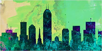 Trademark Fine Art Indianapolis City Skyline by NAXART, 10x19, Multiple