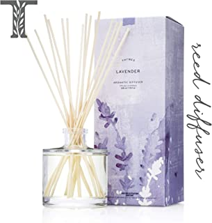 Thymes - Lavender Aromatic Oil Reed Diffuser - Gift Set with Premium Sticks, Glass Bottle and Scented Oil - 6.5 oz