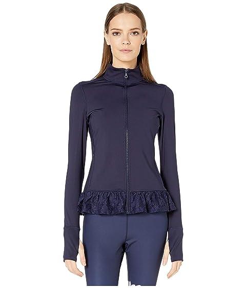 Kate Spade New York Athleisure Lace Ruffle Hem Jacket