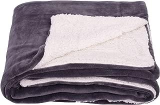 SOCHOW Sherpa Fleece Throw Blanket, Double-Sided Super Soft Luxurious Plush Blanket Twin Size, Dark Grey