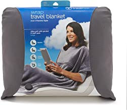Travelrest 4-in-1 Travel Blanket - Ultra Plush and Soft Poncho Style Blanket – Includes Built-in Carry Case, Stuff Sack an...