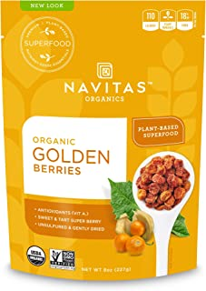 Navitas Organics Goldenberries, Original, 8 oz. Bags (Pack of 2)