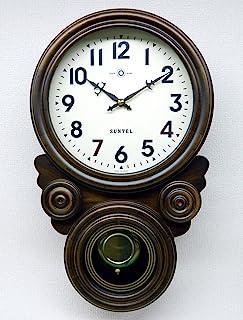 さんてる(Suntel) 掛け時計 ブラウン 480×285×120mm 時打ち だるま振り子時計(アラビア文字) SQ01-A