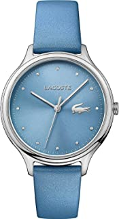 Lacoste Women's Blue Dial Leather Band Watch - 2001006