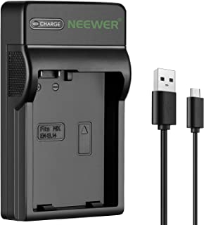 Neewer Slim Fast Micro USB Battery Charger for Nikon EN-EL14 EN-EL14a, Nikon D3200, D3100, D5500, D5300, D5200, D5100, D33...