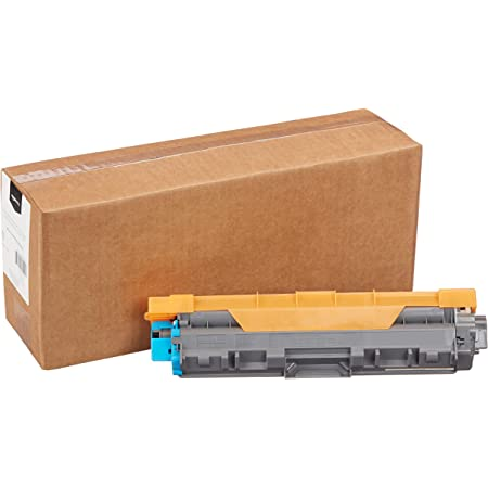 Amazon Basics Remanufactured High-Yield Toner Cartridge, Replacement for Brother TN225 - Cyan