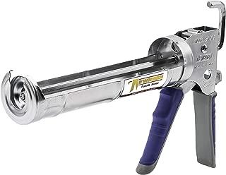 Newborn 950-GTS Smooth Hex Rod Cradle Caulking Gun with Gator Trigger Comfort Grip, 1/10 Gallon Cartridge, 12:1 Thrust Ratio