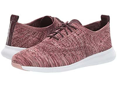 Cole Haan 2.Zerogrand Stitchlite Oxford (Wine Tasting/Marron/Withered Rose/Mahogany Rose Knit/Optic White) Women