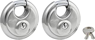 Master Lock 40T Stainless Steel Discus Padlock, 2 Pack
