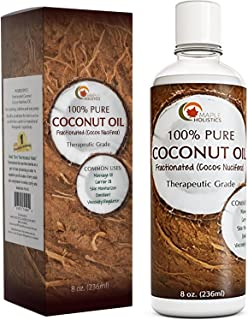 Fractionated Coconut Oil for Skin Care - Refined Coconut Oil Liquid Massage Oil and Anti Aging Body Oil - Fractionated Coc...