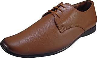 ACTION Synergy Men's Comfort Genuine Leather Formal Shoes Tan 102