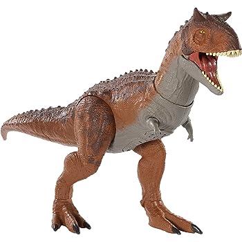 Jurassic World-Thrash /'N Throw Tyrannosaurus Rex Figure-Marron-LIVRAISON GRATUITE