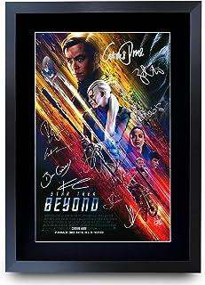HWC Trading Star Trek Beyond The Cast Gifts - Póster con autógrafo para Fans de la película - A3 Enmarcado