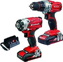 Einhell 4257232kit Taladro y atornillador, 250V, Rojo/Negro