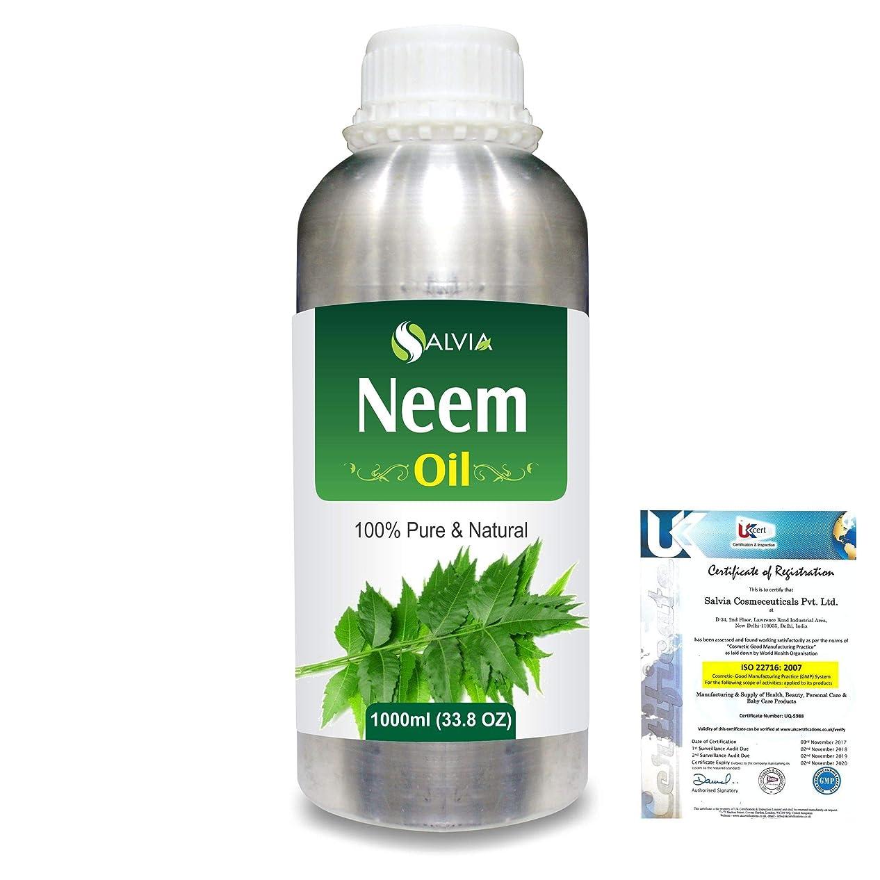 ハリケーン一過性祝うNeem (Azadirachta indica) 100% Natural Pure Essential Oil 1000ml/33.8fl.oz.