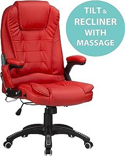 FAUTEUIL CHAISE DE Bureau PU 6 Points Massage Electrique