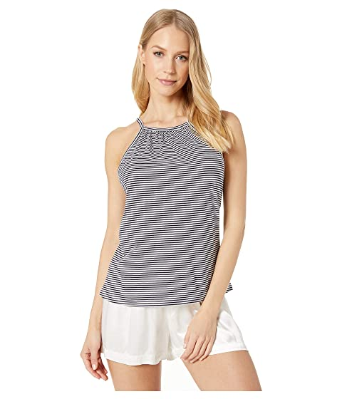 Eberjey Cotton Stripes - The Halter Tank