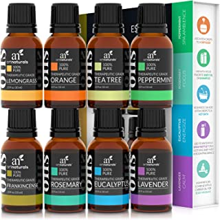 Artnaturals Therapeutic-Grade Aromatherapy Essential Oils Gift Set – (8 x 10ml) - 100% Pure of The Highest Quality Oil – P...