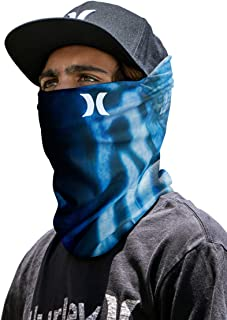 Hurley Multipurpose Neck Gaiter Face Mask with Moisture Wicking Technology