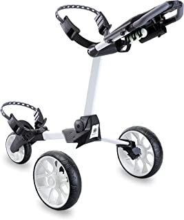 Stewart Golf USA R1-S Push Cart White W/White Wheels