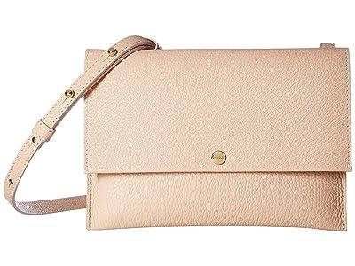 Shinola Detroit Accordion Crossbody (Soft Blush/White) Handbags