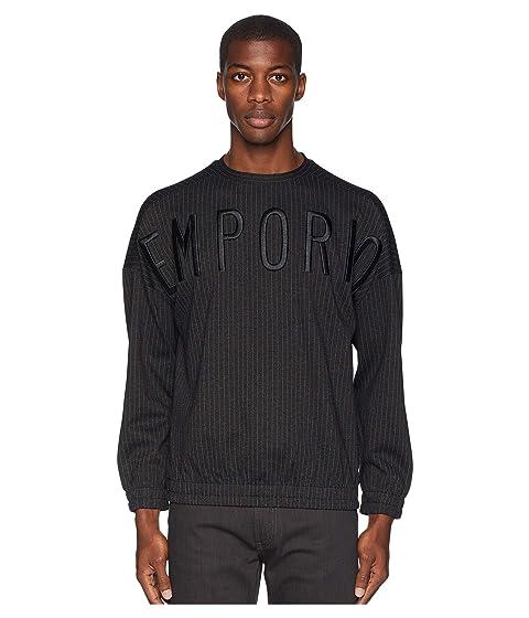 Emporio Armani Striped Logo Sweatshirt