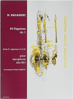 ニコロ・パガニーニ : 24の奇想曲 作品1 第13番~第24番 (サクソフォンソロ) アンリ・ルモアンヌ出版