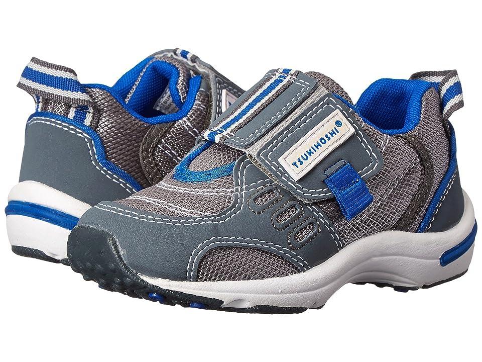 Tsukihoshi Kids Euro (Toddler/Little Kid) (Gray/Royal Blue) Boys Shoes