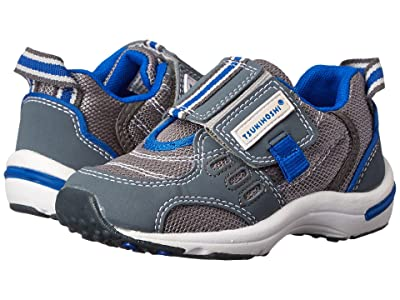 Tsukihoshi Kids Euro (Toddler/Little Kid) (Gray/Royal Blue) Boys Shoes