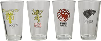 4 Piece Game of Thrones Collectible Pint Glass Set