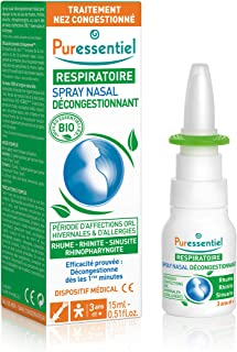 Puressentiel - Respiratoire - Spray Nasal Hypertonique - Bio - Décongestionnant pour rhume, rhinite, sinusite, rhinopharyn...