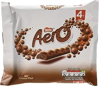 Original Aero Milk Chocolate Bubbly Bar 4 Pack Imported From The UK England
