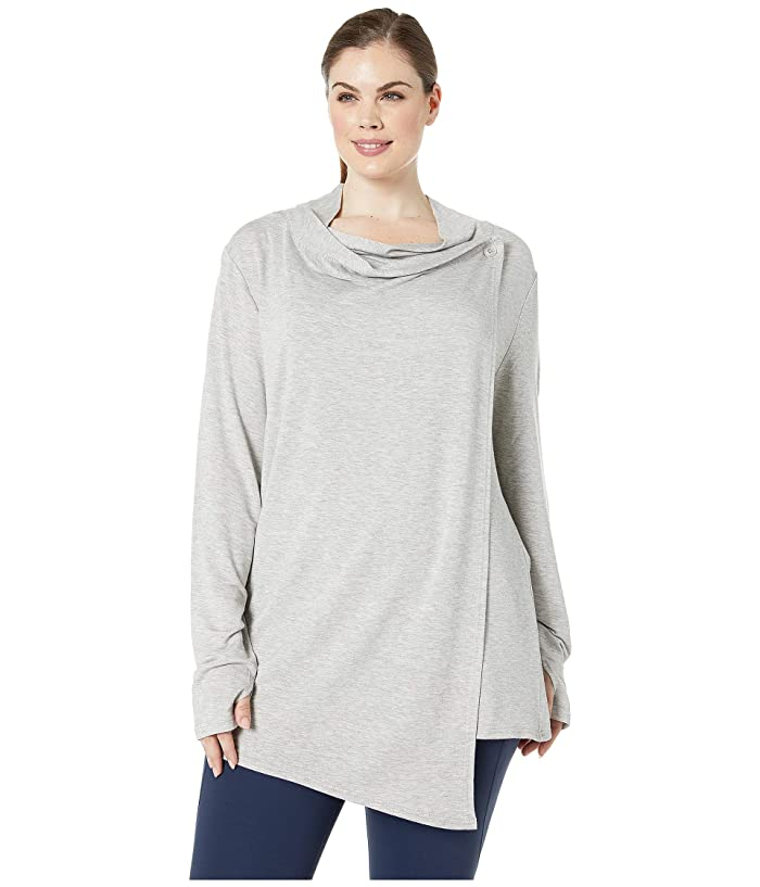 SHAPE Activewear Plus Size Odyssey Wrap (Heather Grey) Women