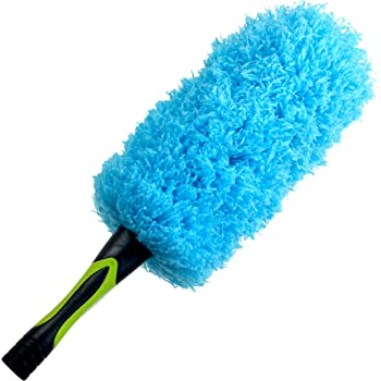 EVERSPROUT Flexible Microfiber Feather Duster | 17-inch Brush Head with Hand-Grip | Lightweight, Attracts Dust | Twists onto Standard Acme Threaded Pole | (Duster Attachment Only, No Pole)