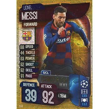 Lionel Messi Hattrick Hero #315 Barcelona 2019//20 Match Attax Soccer Card
