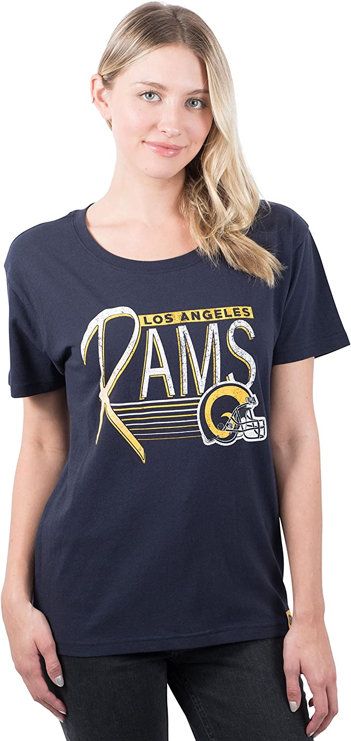Ultra Game NFL Women's Vintage Scoop Super Neck T-Shirt Soft Cheap mail order sales In a popularity