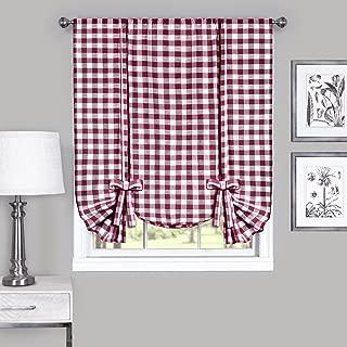 Achim Home Furnishings Buffalo Check Window Curtain Tie Up Shade, 42