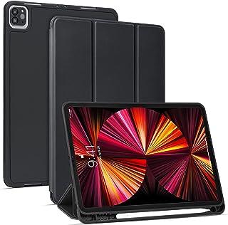 【Amazon限定ブランド】 iPad Pro 11 ケース 5G 第五世代専用 2021年4月発売 Pencil2 ワイヤレス充電対応用 iPad Pro 11インチ Pencilホルダー付き オートスリープ ウェイク 三つ折りスタンド - ...