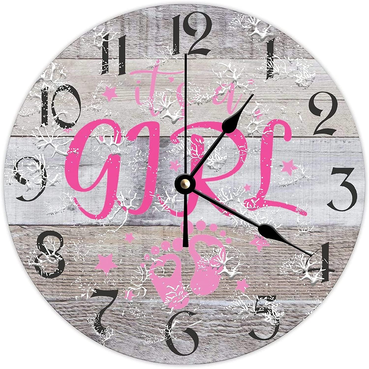 by Unbranded Wooden Clock Wall Decor 12 Girl Inch low-pricing It's A Seattle Mall