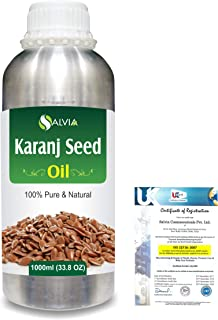 Karanj Seed (Pongamia glabra) Natural Pure Undiluted Uncut Carrier Oil 1000ml/33.8 fl.oz.
